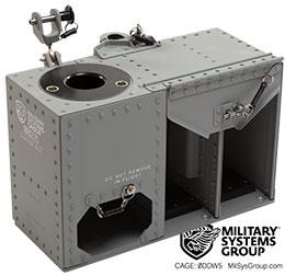 Aircraft machine gun mount bracket