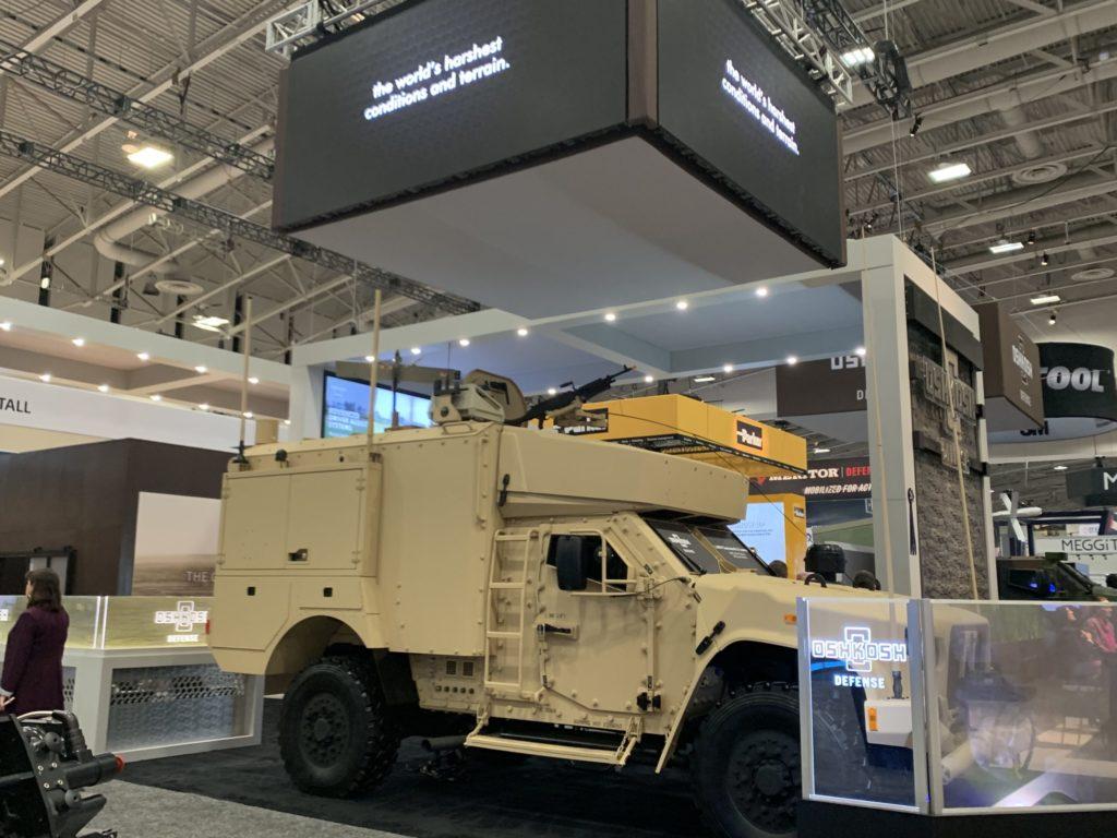 MSG Swing Arm and Machine Gun Mount on Oshkosh JLTV at AUSA 2019