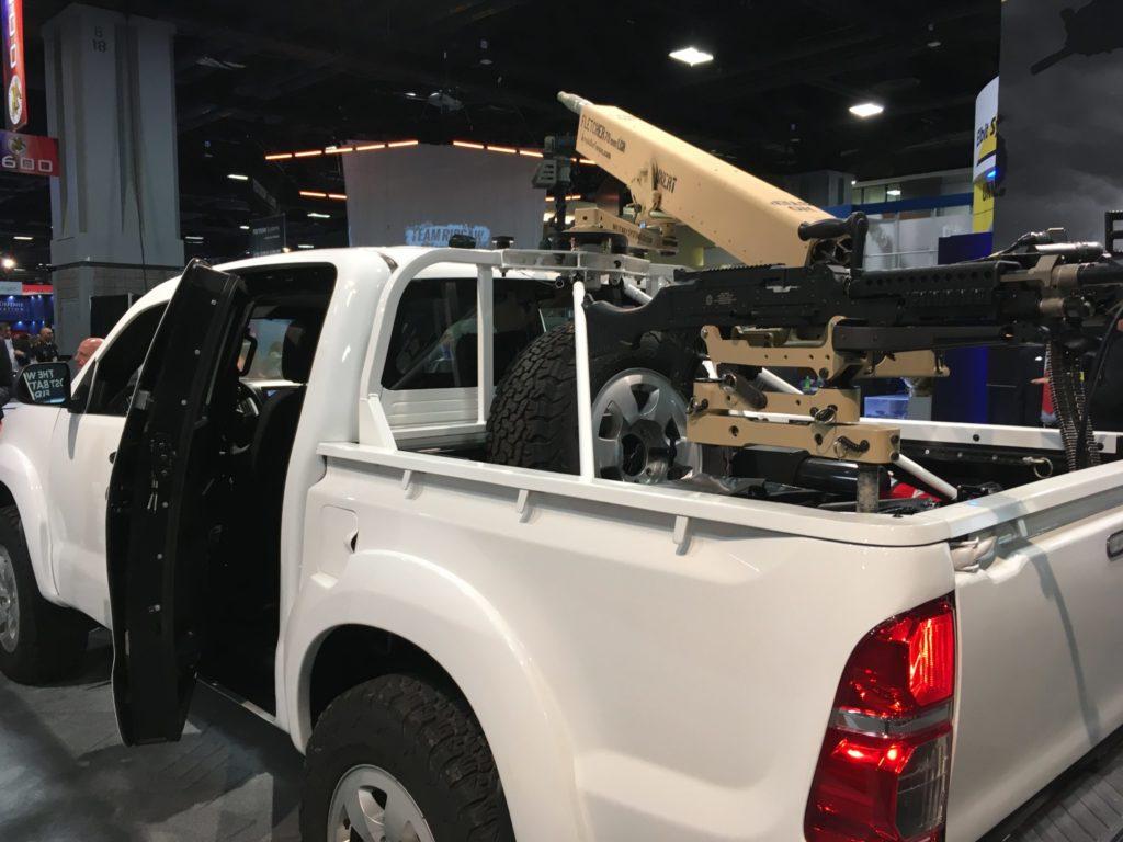 MSG Swing Arm, Machine Gun Mount and Fletcher Arm on Navistar NSV at AUSA 2019