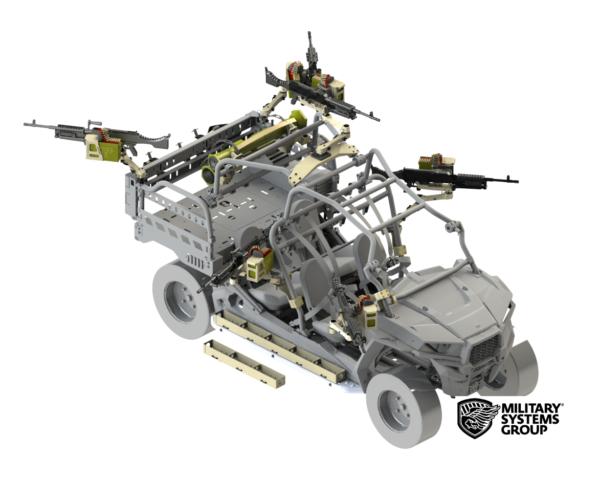 Polaris MRZR Machine Gun Mounts and Accessories