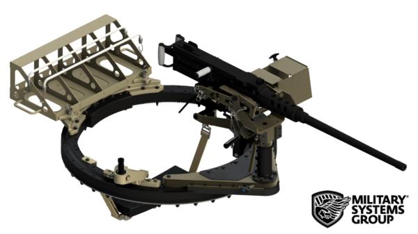 "42"" Series Turret with M2 Machine Gun Mounted"